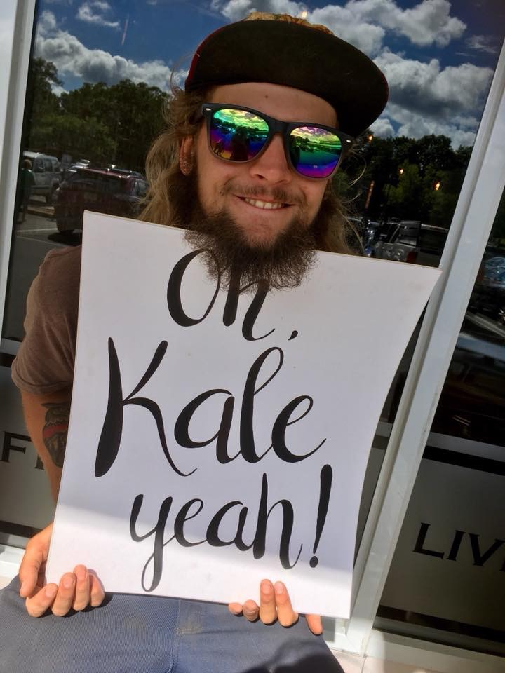 Punny kale sign