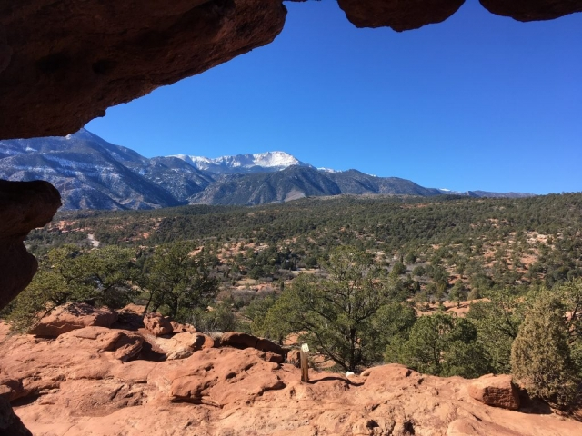 View from garden of the Gods