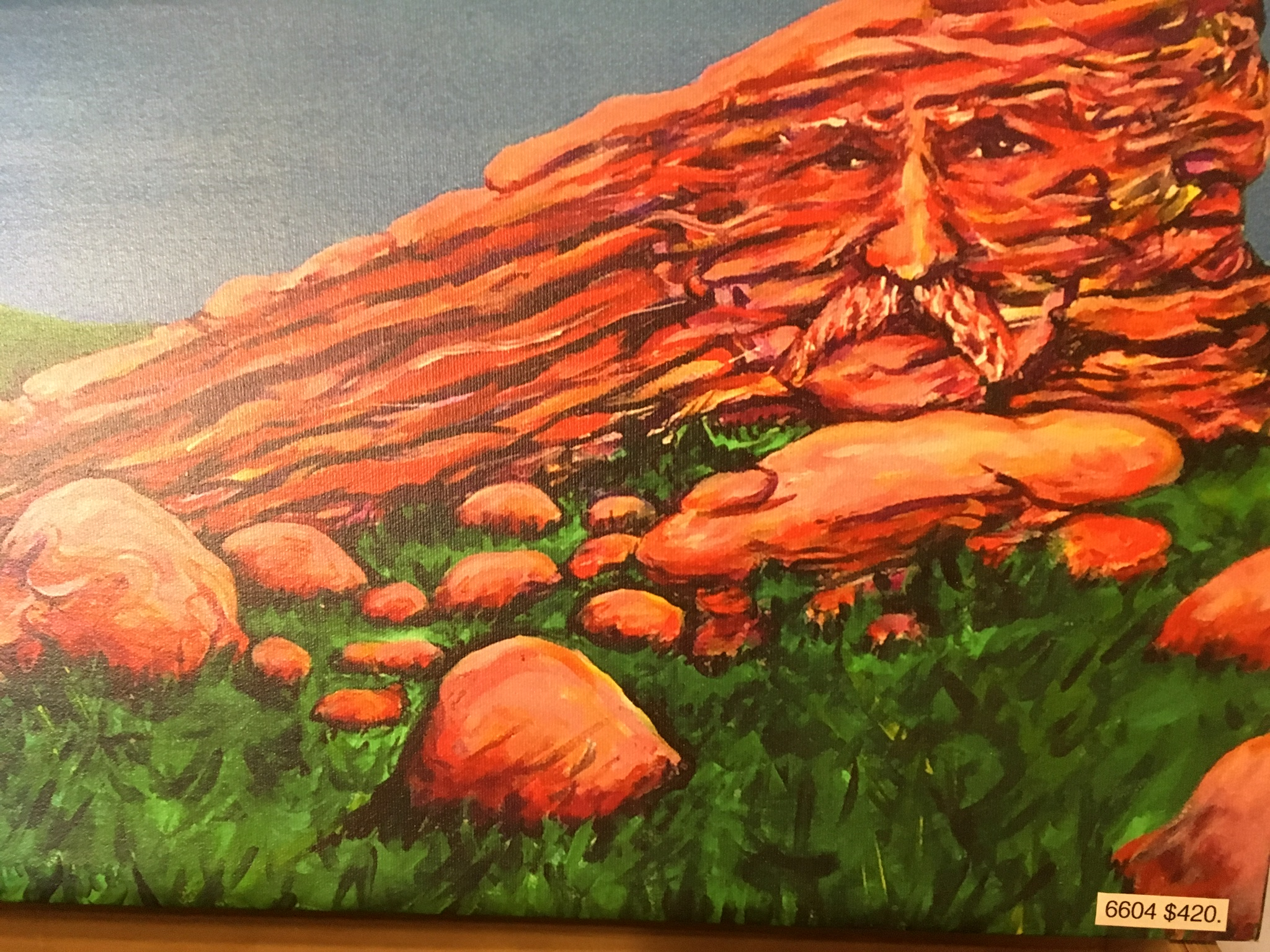 Red Rocks Amphitheater Panting with face