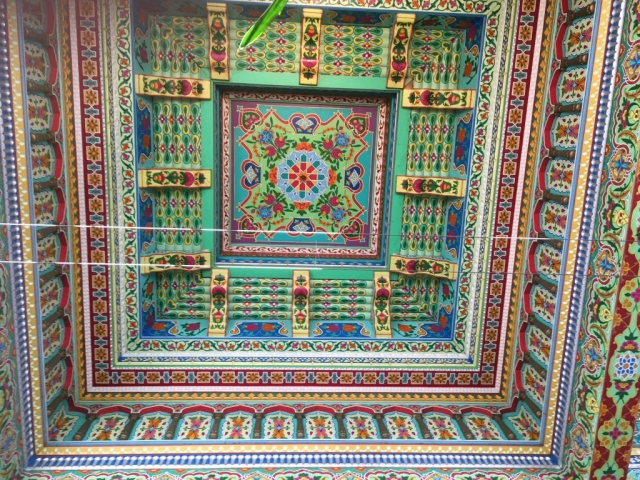 Dushanbe Teahouse colorful roof