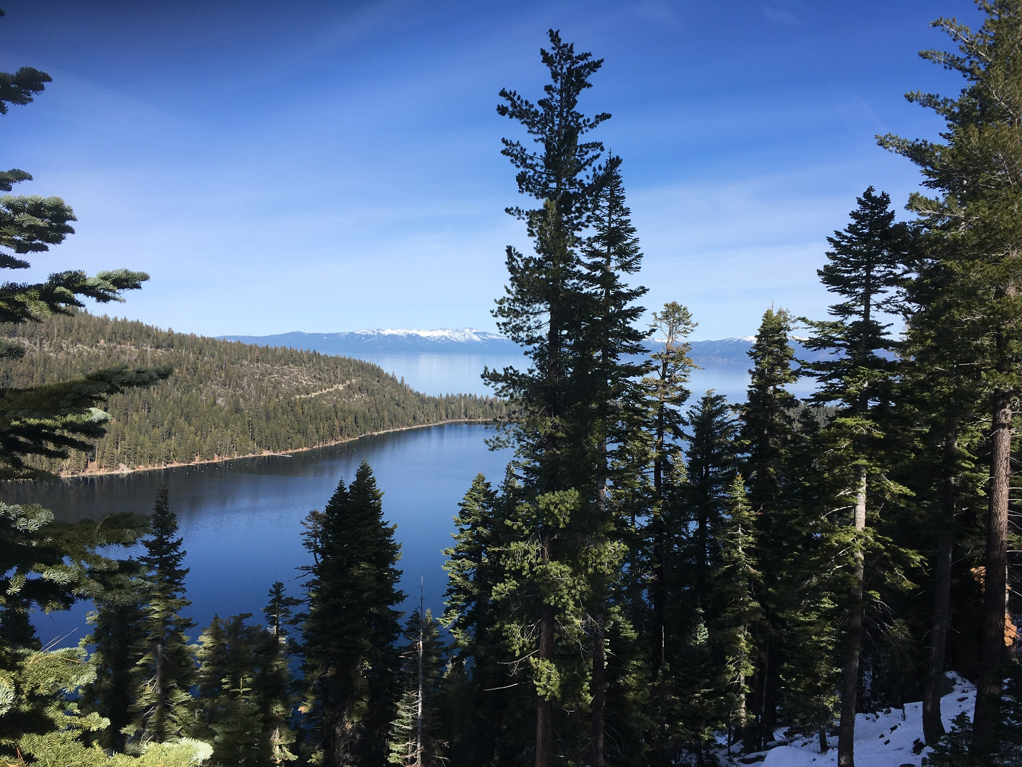 Inspiration point in Lake Tahoe