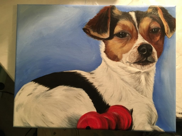 Acrylic pet painting