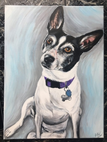 Acrylic dog painting