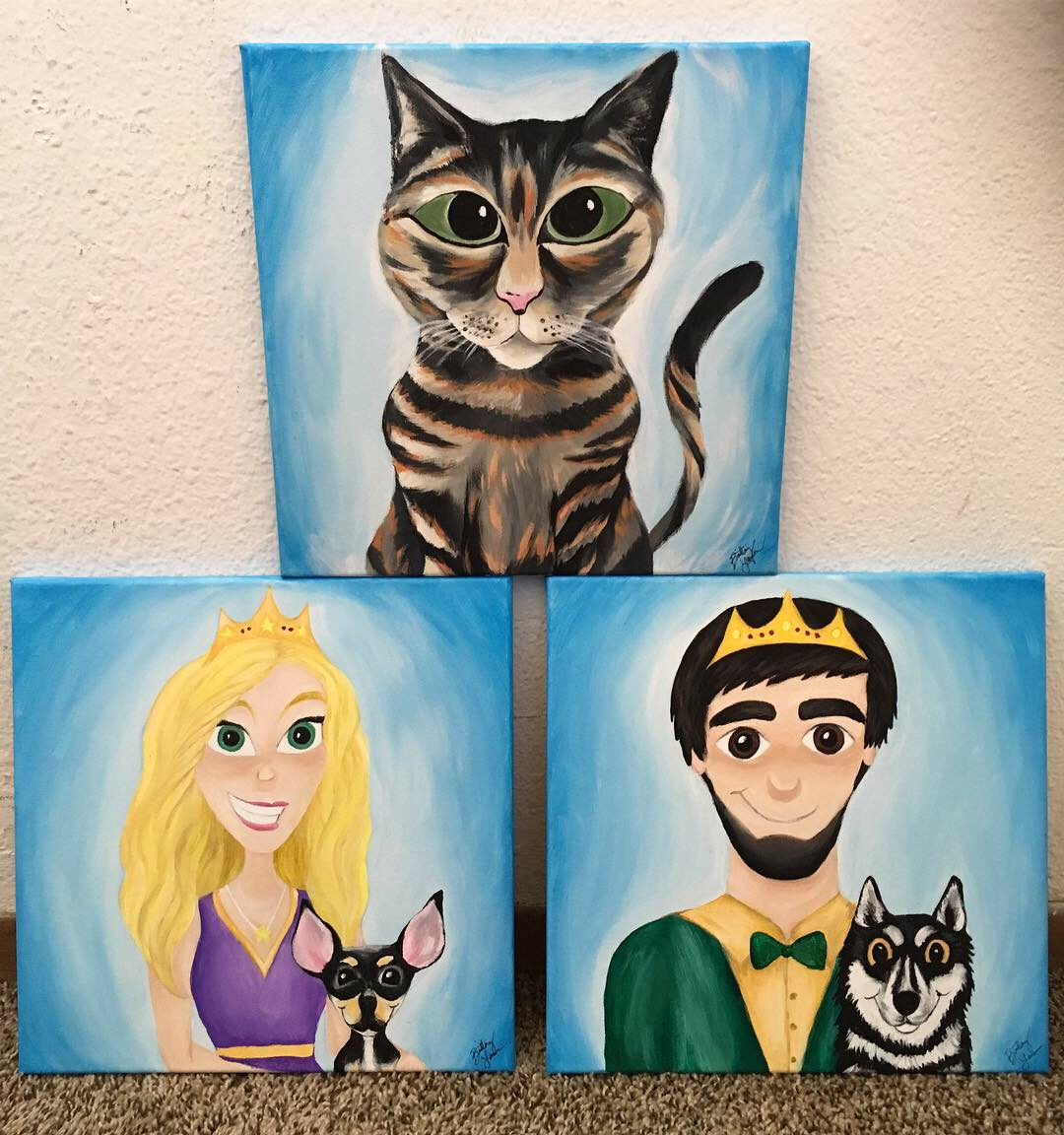 Disney style pet paintings