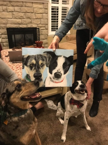 Pet painting with dogs