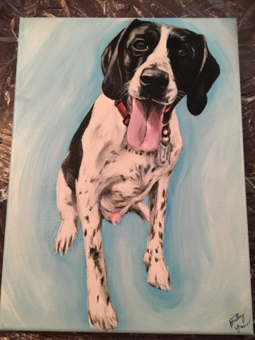 dog pet painting