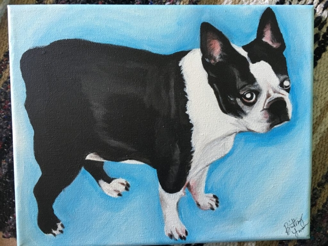 dog painting, pet portrait dog portrait