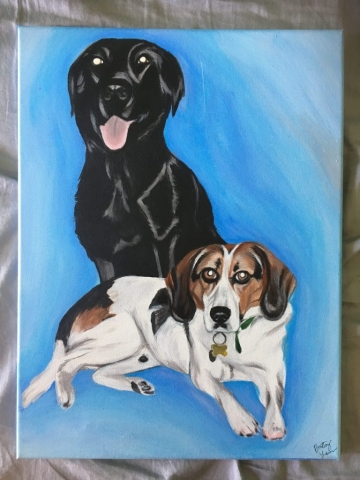 dog painting, dog portrait, pet portrait