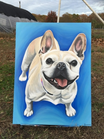 french bulldog pet painting