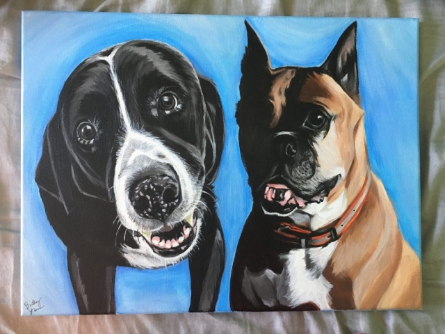 pet painting, dog painting, pet portrait