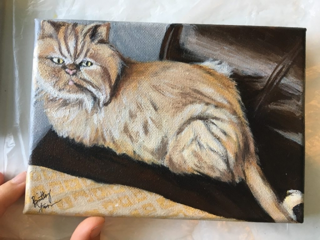 cat pet portrait, pet painting