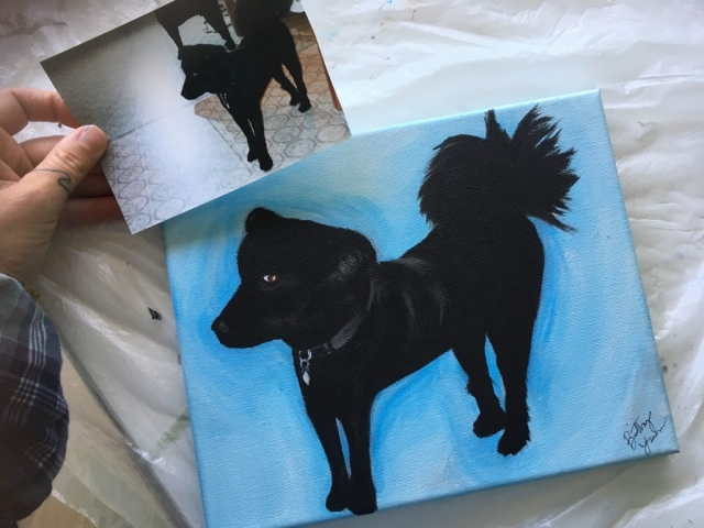 pet painting, dog painting, dog portrait