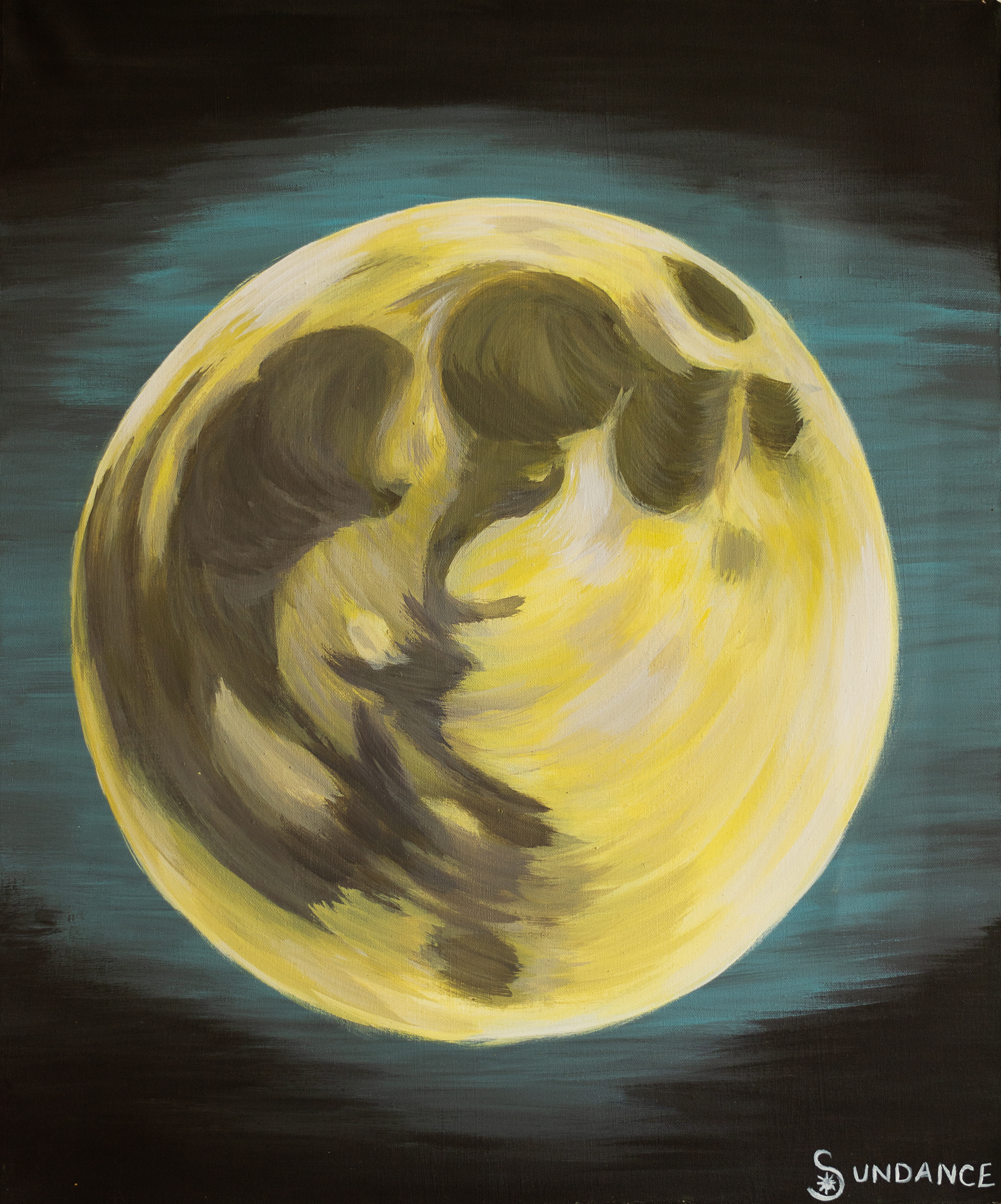 full moon painting