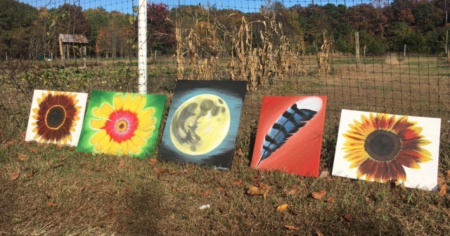 nature paintings outside
