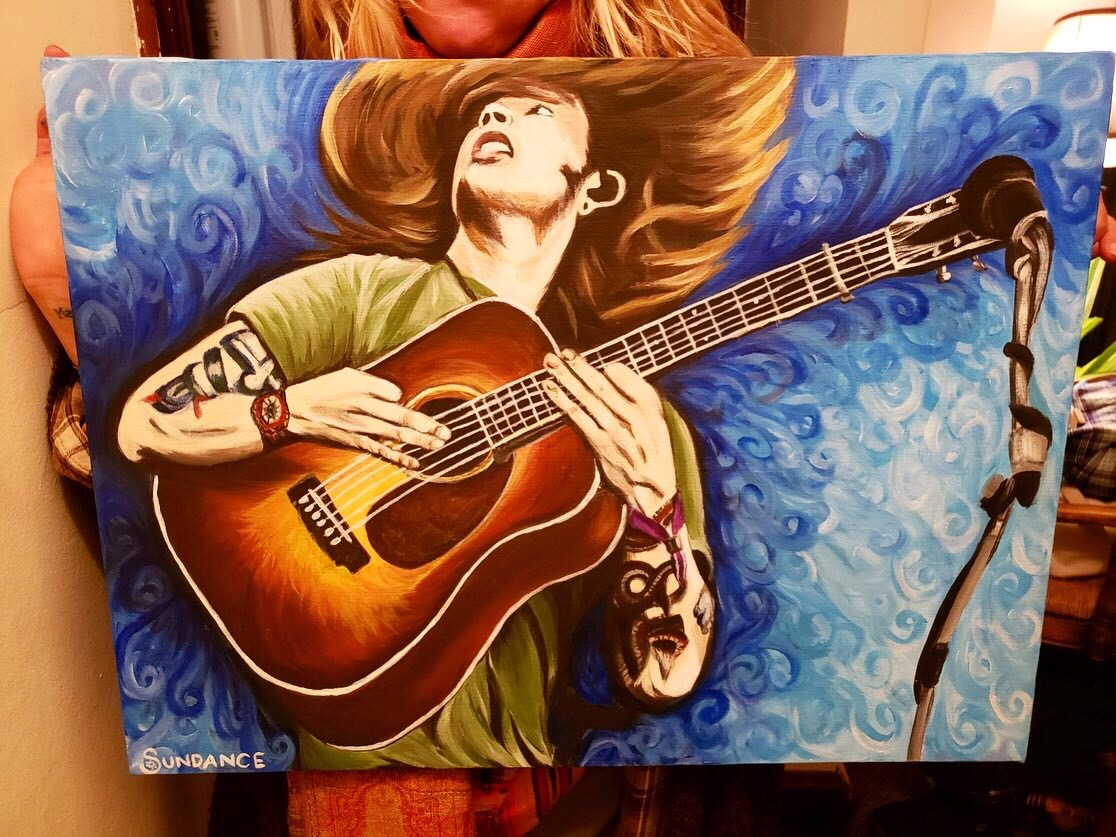 Billy Strings portrait, Billy Strings fan art, Billy Strings painting