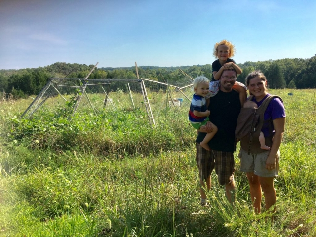 family on farm
