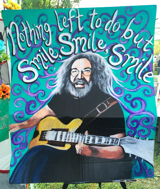 jerry, jerry garcia, nothin' left to do but smile, smile, guitar, musician, recycle art, he's gone