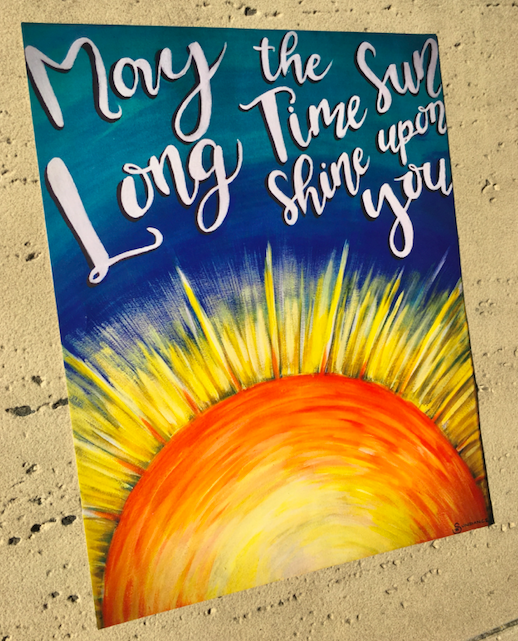 long time sun quote print