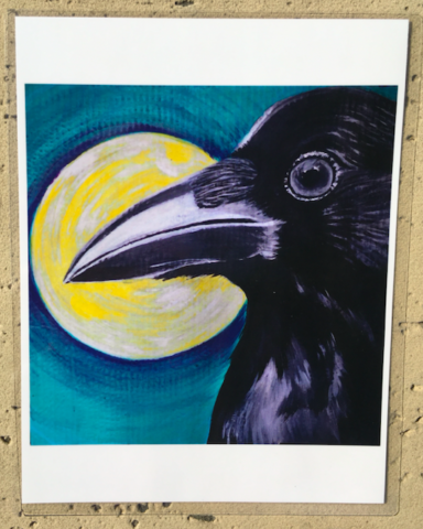 raven moon print of painting